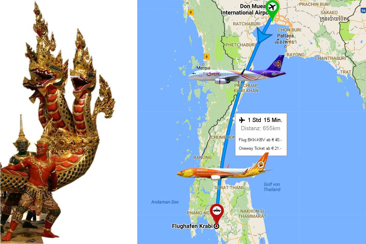 how to get to krabi from bangkok