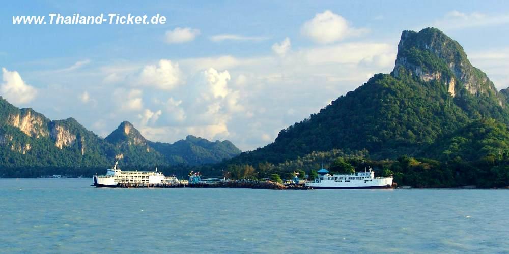 Fährhafen Don-Sak bei Surat-Thani