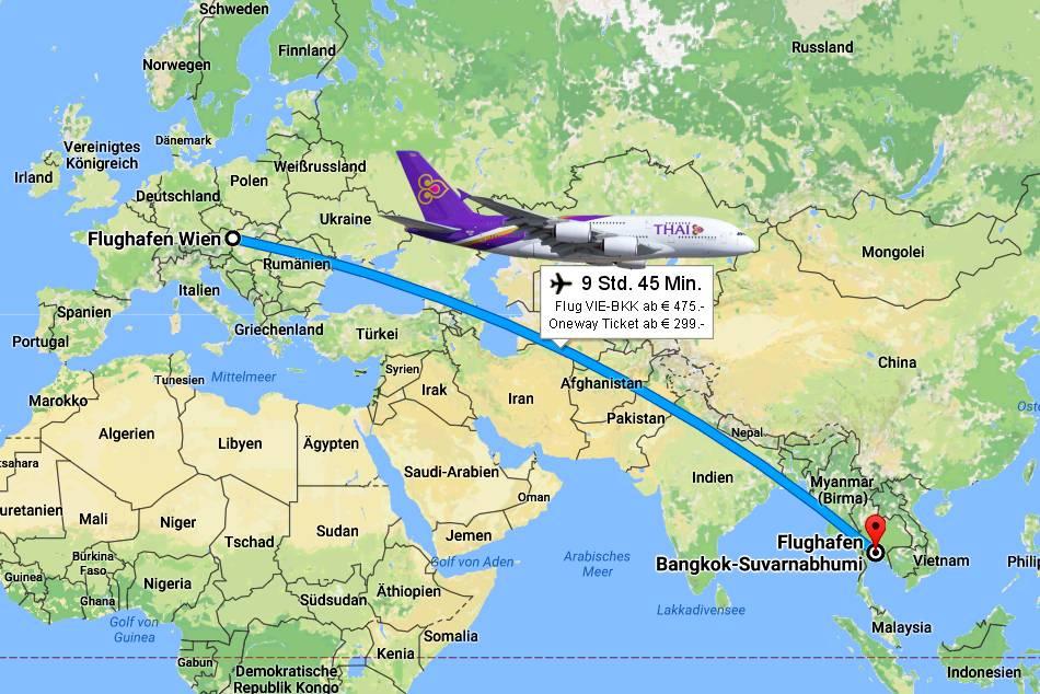 Flugbuchung Vie Bkk Flüge Von Wien Nach Bangkok Bei Thailand Flug